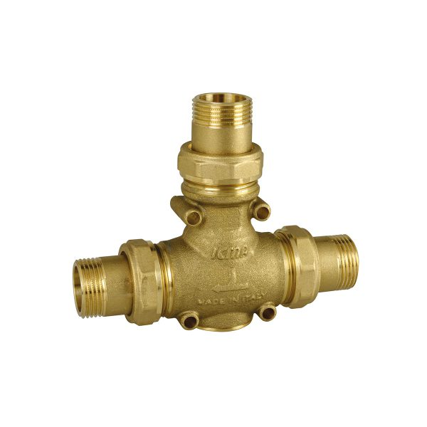 Anti-condensation valve with male unions on the 3 ways
