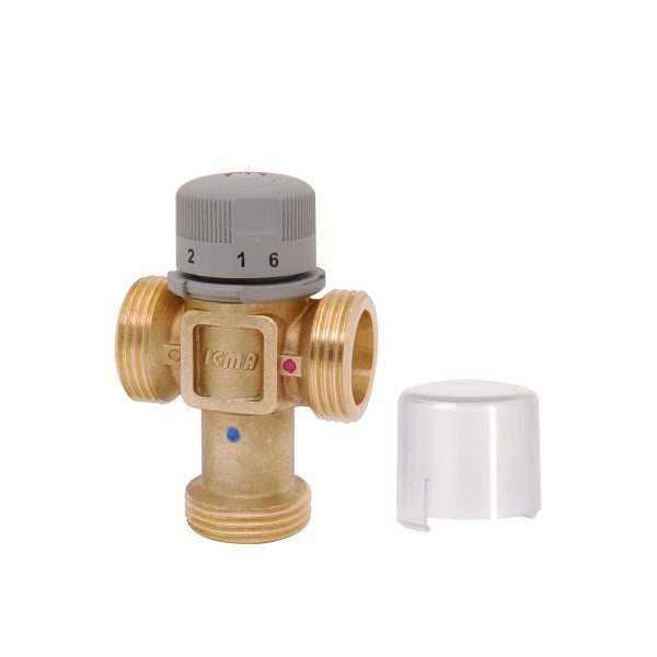 Thermostatic mixers, shock absorbers, mixing valves