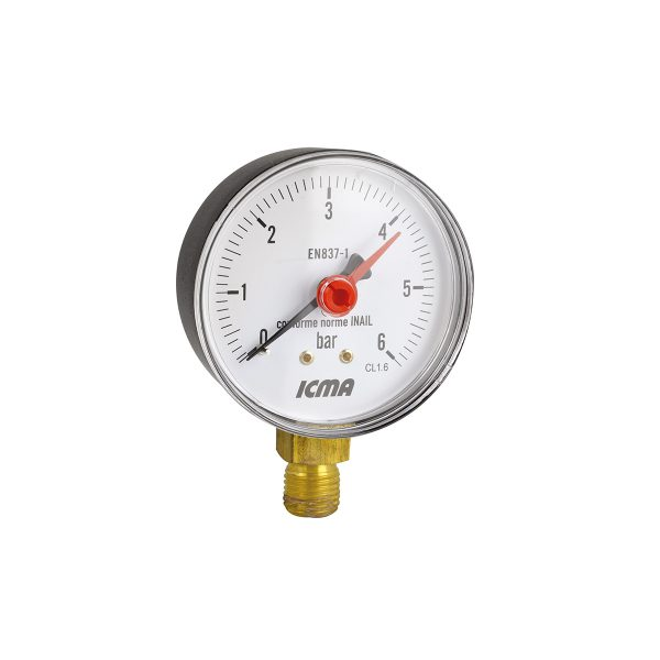 Pressure gauge. Radial connection