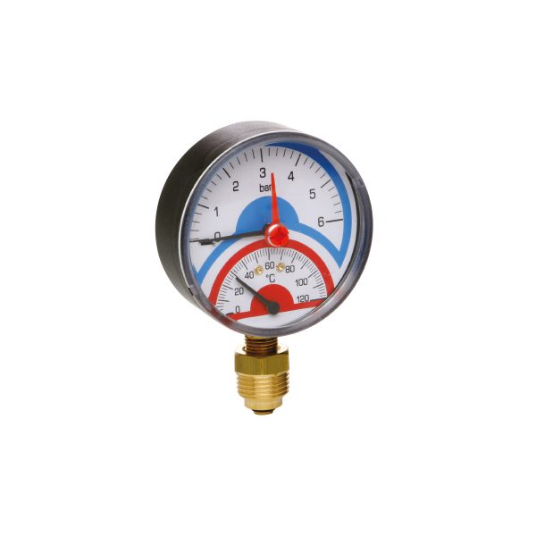 Gauges, thermometers, thermomanometers, valves for gauge, curls