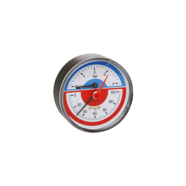 Thermomanometer with check valve
