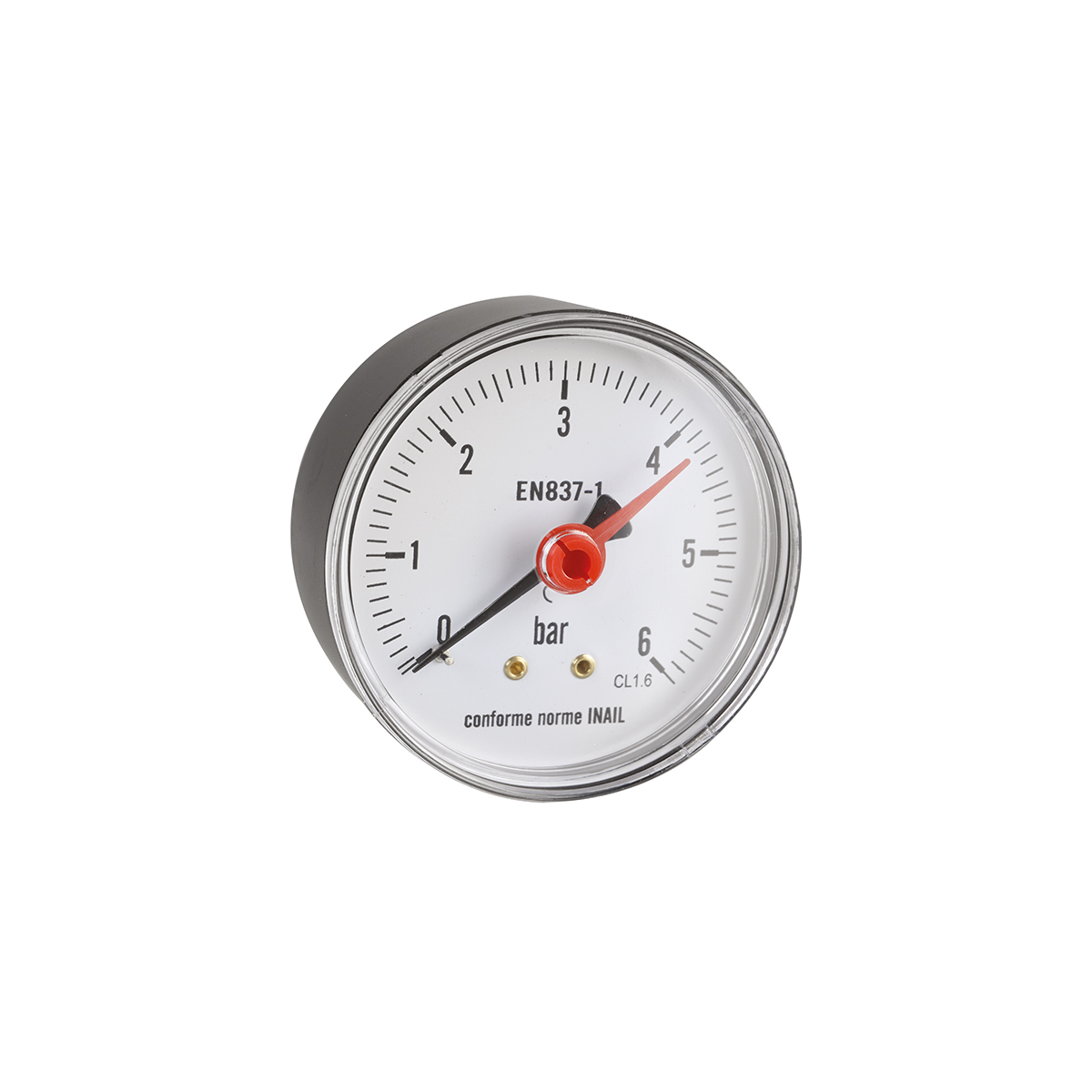 Pressure gauge. Back connection