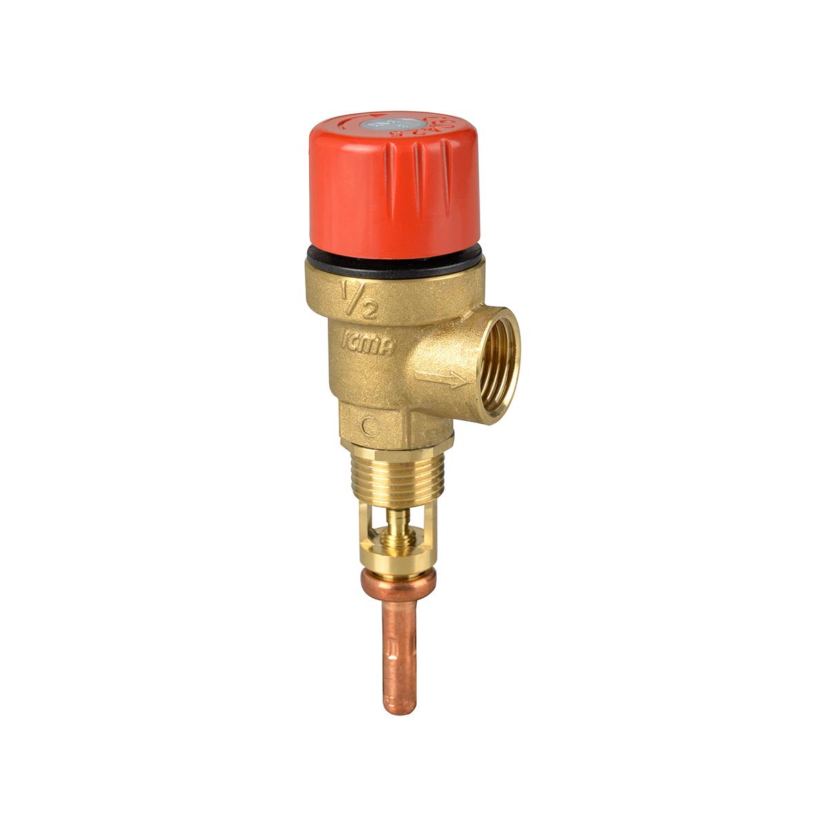 Valvola di sicurezza per scarico acqua calda in un accumulo