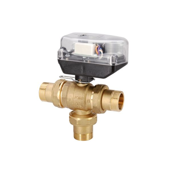by-pass zone ball valve with servomotor