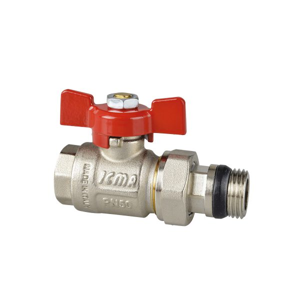 Full bore ball valve with pipe tail Thread ISO 228.