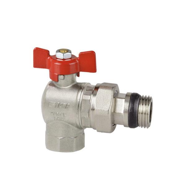 Full bore angle ball valve