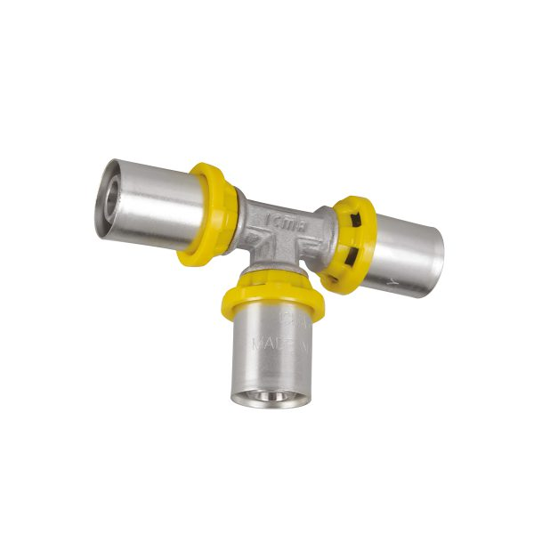 Multilayer gas pipe and Sempigas press fittings, with TH profile
