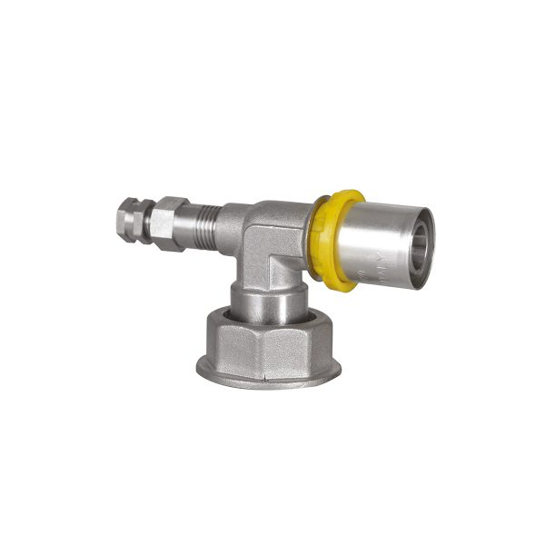 SEMPIGAS® elbow press-fitting with gas meter connection