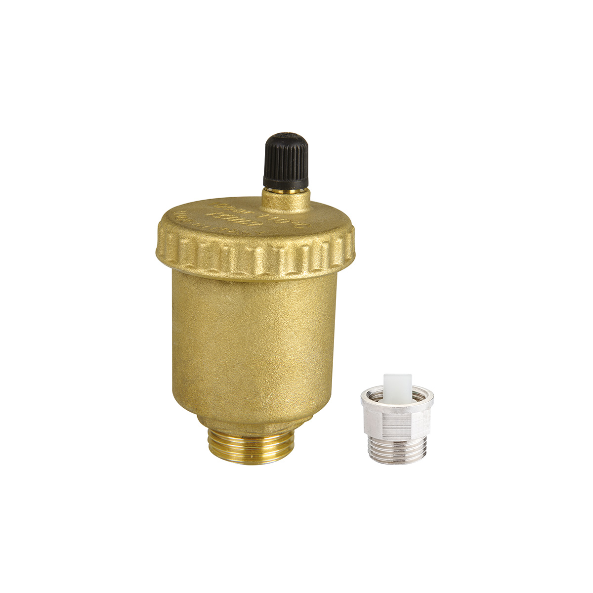 Automatic floating air vent with check valve.