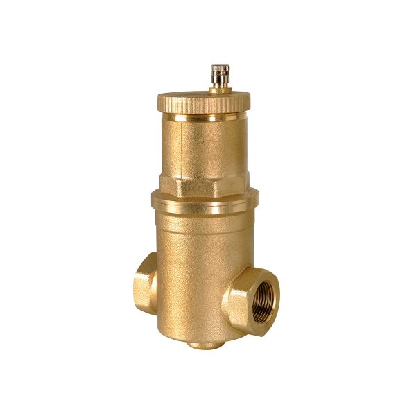 High capacity deaerator, for heating/conditioning systems