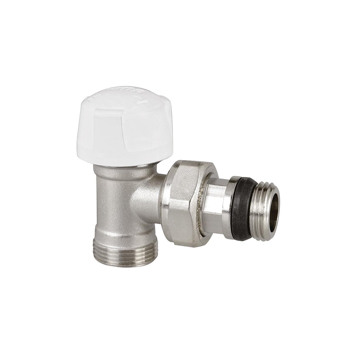 Pre-setting angle valve with thermostatic option for copper, Pex-Al-pex, pex piping