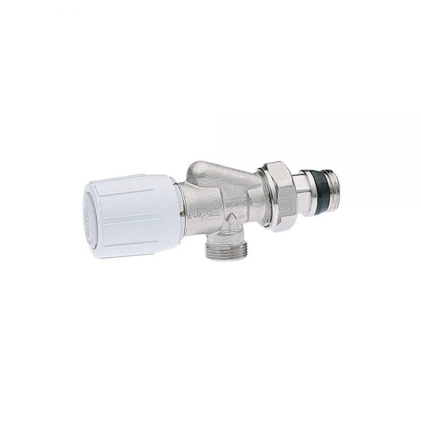 Inverse angle valve with thermostatic option