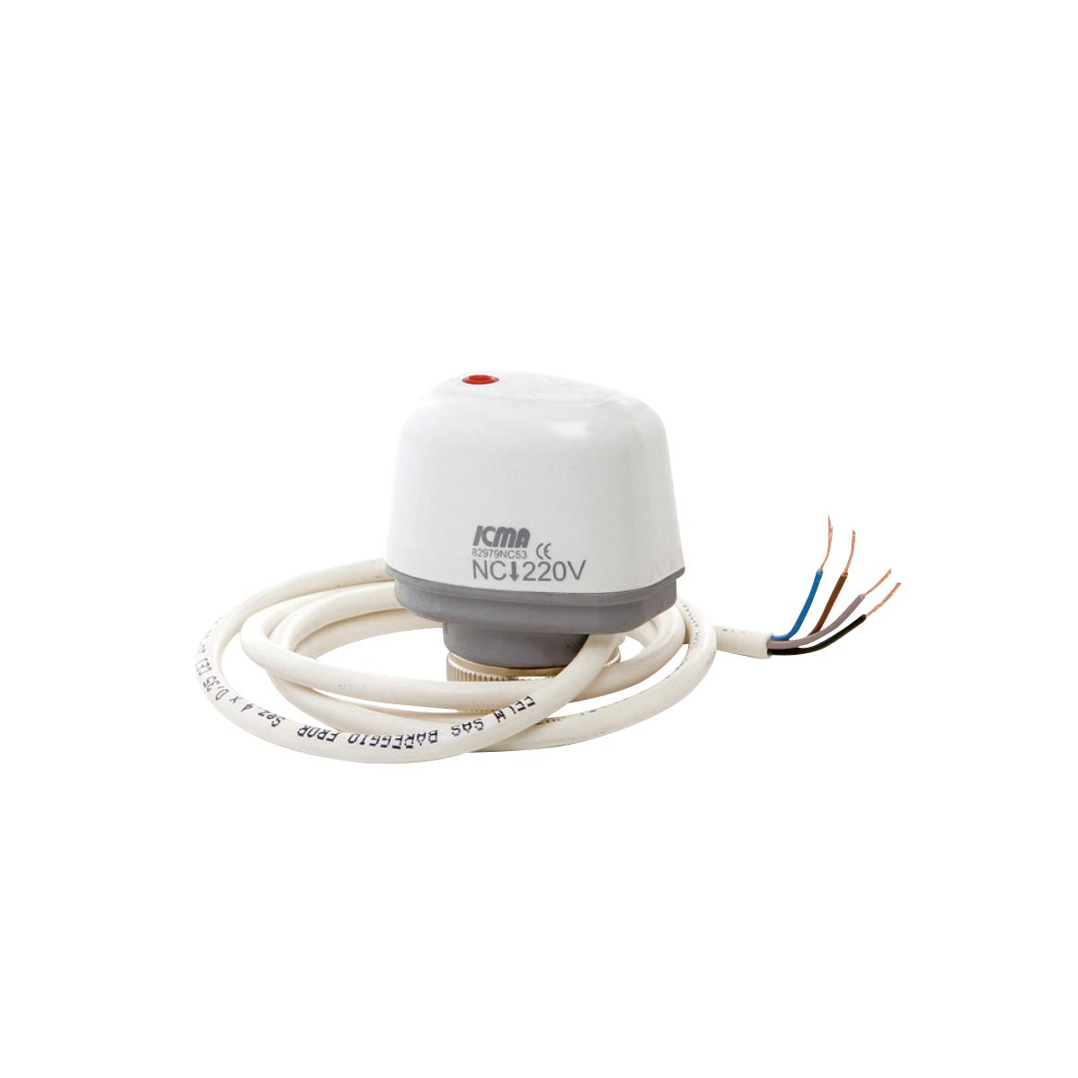 Attuatore elettrotermico con microinterruttore
