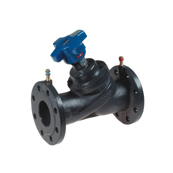 Calibration and balancing valve for heating, cooling and sanitary systems
