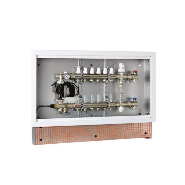 Gruppo preassemblato in cassetta per impianti con sistema a pannelli