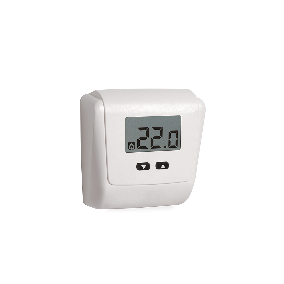 Electronic ambient thermostat with LCD display