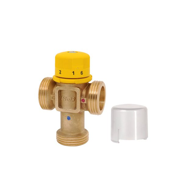 Thermostatic mixer with male connections