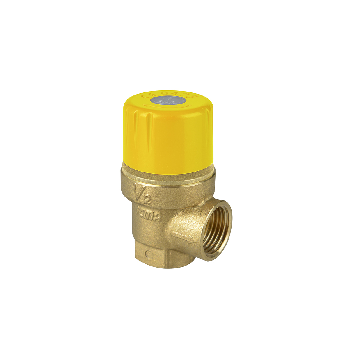Fixed setting safety valve for solar systems