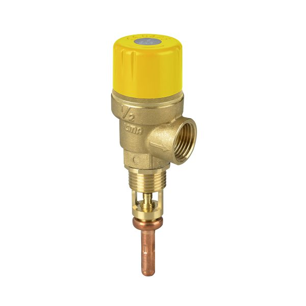 Temperature and pressure safety valve for solar systems